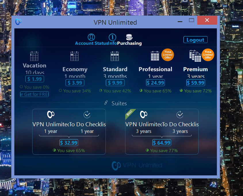 VPN Unlimited purchasing