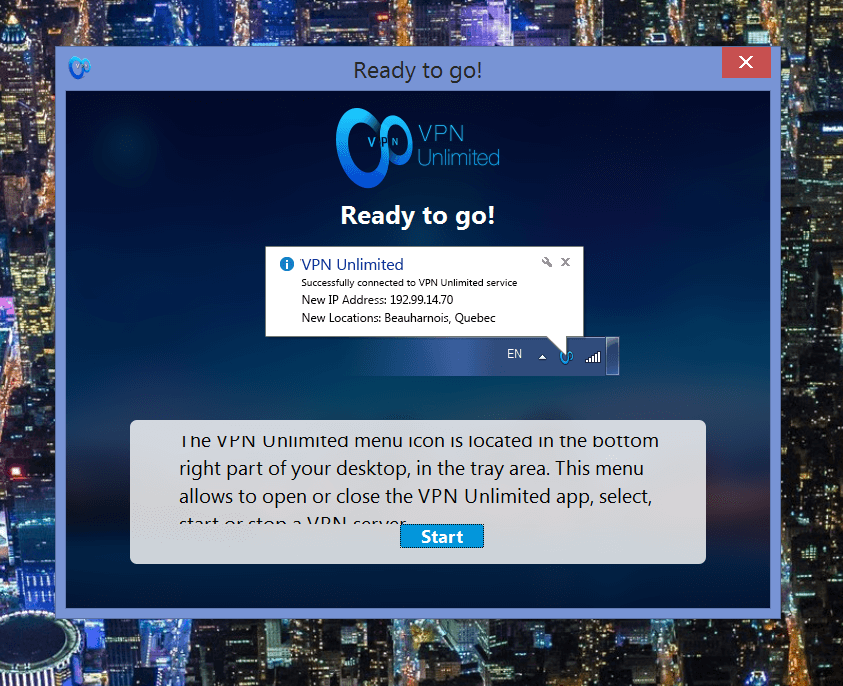 VPN unlimited ready to go
