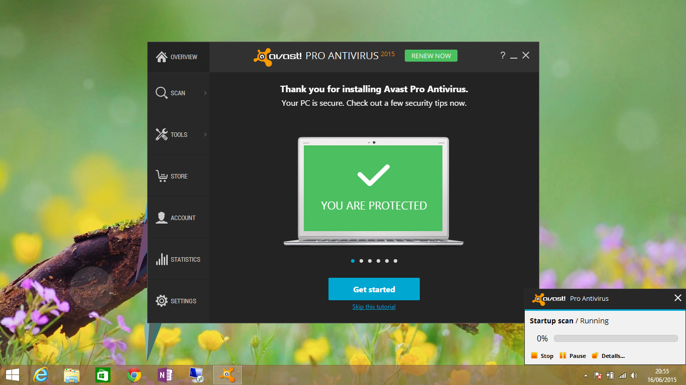Avast second setup wizard