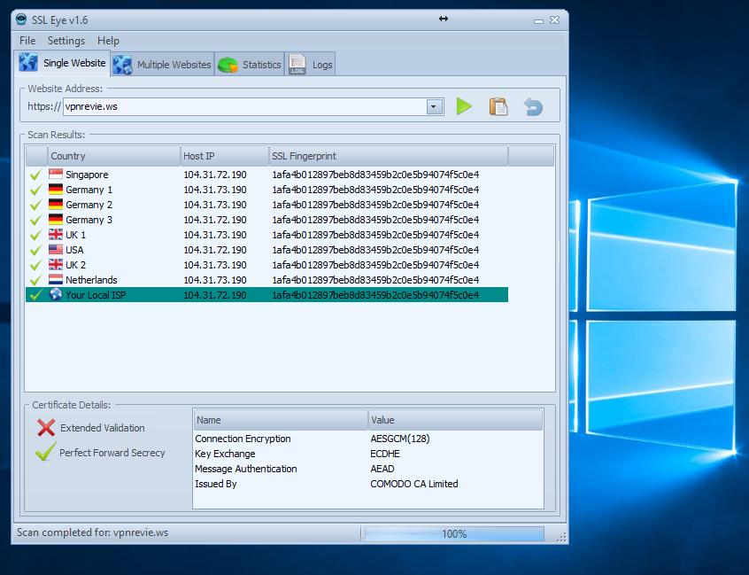SSL Eye screenshot