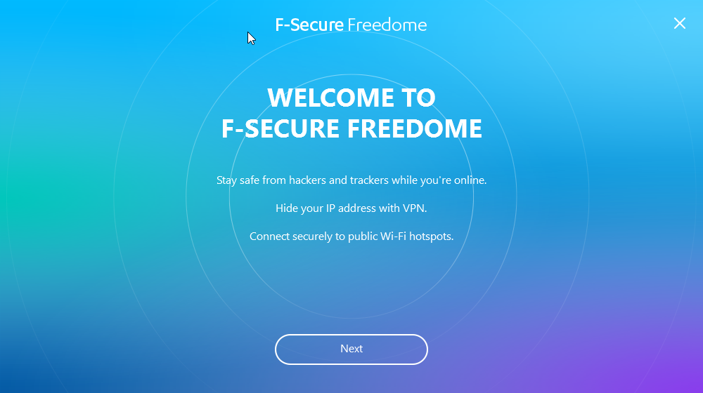 F-Secure Freedome installer splash screen
