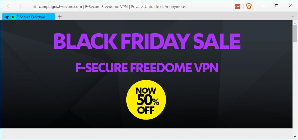 F-Secure Freedome Black Friday